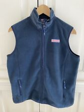Vineyard Vines Boys Spring Full Zip Fleece Vest Navy Blue XL 18 Preppy