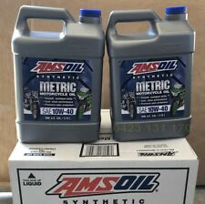 Amsoil 10w-40 motorcycle oil MCF 2 Gallons suits Metric motorcycles BMW Suzuki