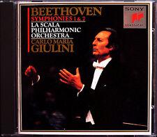 Carlo Maria Giulini: Beethoven Symphony No. 1 & 7 La Scala Sony CD 1992 Symphonies