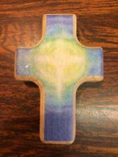 Wooden Holding Cross Christian Comfort