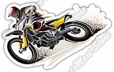 """Dirt Bike Motocross Helmet Goggles Sport Car Bumper Vinyl Sticker Decal 5""""X4"""""""