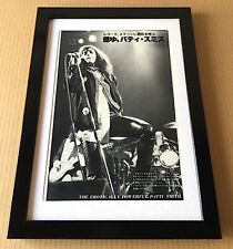 1978 Patti Smith on stage vintage Japan mag photo pinup mini poster Framed s10m