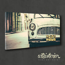 QUADRO Cuba Vintage Car - Stampa su tela 100x50 cm ARTE ARREDO IDEA REGALO