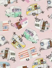 Vintage Campers Retro cotton quilt fabric BTY Timeless Treasures