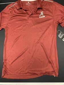 Colosseum Men's Red Alabama Crimson Tide Polo Shirt Size Small NWT