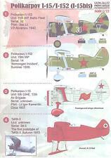 Print Scale Decals 1/72 POLIKARPOV I-15 & 1-152 (I-15bis) Russian WWII Fighter