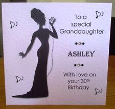 Cabaret Singer Karaoke Personalised Birthday Card Granddaughter Daughter