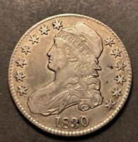 1830 Capped Bust Half Dollar 50c Small 0 Variety High Grade Details O-106