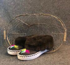 Womens Ladies Natural Leather Sheepskin Slippers Moccasins Size UK6.5/EU40