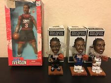 ALLEN IVERSON Bobbleheads and Figure Lot! New In boxes! NBA. Bobble.