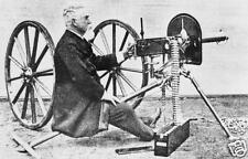 Maxim Machine Gun Hiram Maxim Repro 6x4'' Photograph