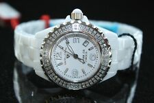Women Swiss Legend Karamica Ceramic .797ct Diamond White Watch SL-10051-WWSA New