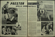 Football Preston North End John Arlott Visits Deepdale 1954 3 Page Photo Article