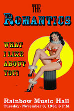 Rock: The Romantics in Denver * What I Like ABout You* Concert Poster 1981