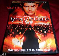 V for Vendetta alan moore movie Dvd Natalie Portman Dc Vertigo hugo weaving