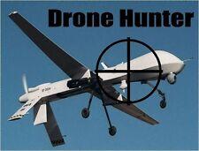 Drone Hunter bumper sticker spy America freedom privacy