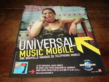 DIAM'S - PUBLICITE UNIVERSAL MUSIC MOBILE !!!!!!!!!!!