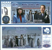 NEW POLYMER 2014 MARIE BYRD LAND 200 PENGUINO REGULAR ISSUE FANTASY ART NOTE!