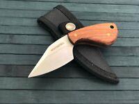 "5"" Small Fixed Blade Pocket Knife with Sheath Full Tang Knife Acrylic Handle"