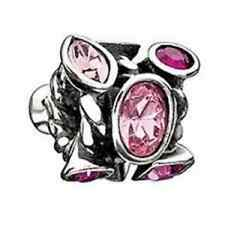 Authentic Chamilia Element Charm 925 Silver Marquis Pink Swarovski JC-2D