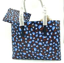 Auth NWT Kate Spade Molly Party Floral Large Work Shopper Tote In Blue Multi