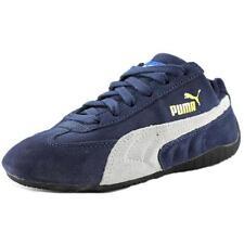 Scarpe sneakers blu in camoscio per bambini dai 2 ai 16 anni