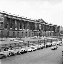 PARIS c. 1957 - Autos Colonnade du Louvre  - Négatif 6 x 6 - N6 P65