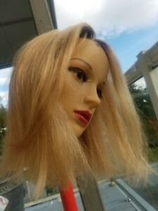 Sale 100% HUMAN HAIR European Lace rooted blond brown   Remy straigt / wavy