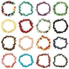 Charm Reiki Healing Bracelet Gemstone Crystal Chip Bracelets Stretch Jewelry
