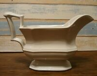 Vintage White Ironstone Large Red Cliffs Heirloom Gravy Boat