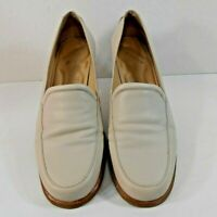 Rockport Womens Loafers Flats Size 9 M Leather Slip On Apron Toe Nude