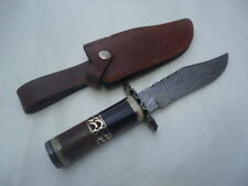 """Pioneer Custom M 00006000 ade Damascus Steel Hunting Knife With Damascus Guard 9.5"""" Pt-544"""
