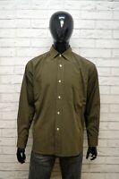 VERSACE Uomo Camicia Camicetta Taglia XL Maglia Shirt Hemd Verde Cotone Man