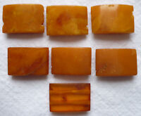 BERNSTEIN 7 KETTENTEILE 4,33 Gramm je ca. 15 x 11 mm vor 1945 Amber 老琥珀