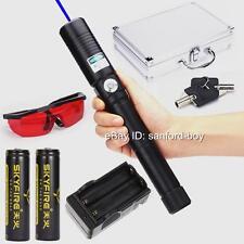 High Power Blue Laser Pointer Laser Pen Sword Torch Focusable Burning 2x18650 AU