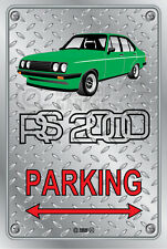 Parking Sign - FORD RS2000 4Door GREEN Checkplate look