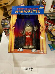 Disney Character Marionette Puppet MICKEY MOUSE Stage Helm Toy 1990 MIB SEALED