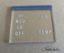 NEW 1964-67 GTO LeMans HEATER CONTROL LENS Heat (Non-A/C) Pontiac Tempest G-T-O