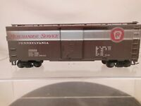 HO SCALE 40' STEEL BOX CAR PENNSYLVANIA PRR MERCHANDISE SERVICE WEATHRED 4/4