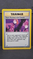 Team Rocket's Evil Deeds 103 Neo Destiny Uncommon Pokemon Card Near Mint