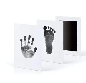 Cute Safe Non-toxic Baby Inkless Handprint Footprint Kit Hand and Foot Prints
