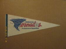 CBA Pensacola Tornados Vintage Defunct Circa 1980's Team Logo Basketball Pennant