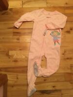 NEW~Carters ~Toddler Girl One Piece 4T Sleeper/Pajamas with Feet~ Pink