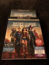 Justice League 2018 Batman Superman New Slipcover + Digital Hd + Blu Ray + 4k