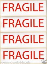 FRAGILE - WARNING LABELS - 152 x 50mm x 25 Self Adhesive Labels