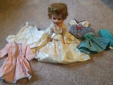 Vintage Bride Doll With Clothing