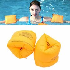 1 Pair Inflatable Roll Up Arm Band Swimming Armband Floaties Aid Water Wings