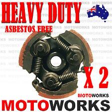 2 x HEAVY DUTY 3 Shoes Clutch Plate 47cc 49cc Mini Pocket PIT Quad Dirt Bike ATV