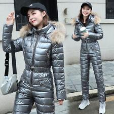 Fashion Ladies Winter One-Piece Ski Suit Shiny One-Piece Ski Suit Cotton Outwear