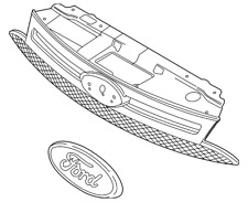 Genuine Ford Grille Assembly 8S4Z-8200-BA